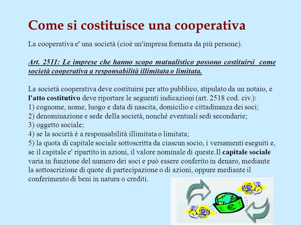 Nel momento dello scioglimento, i soci non possono dividersi il patrimonio della cooperativa, né possono vendere la società nel suo complesso. La legg