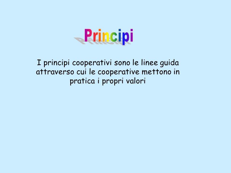 I principi cooperativi sono le linee guida attraverso cui le cooperative mettono in pratica i propri valori