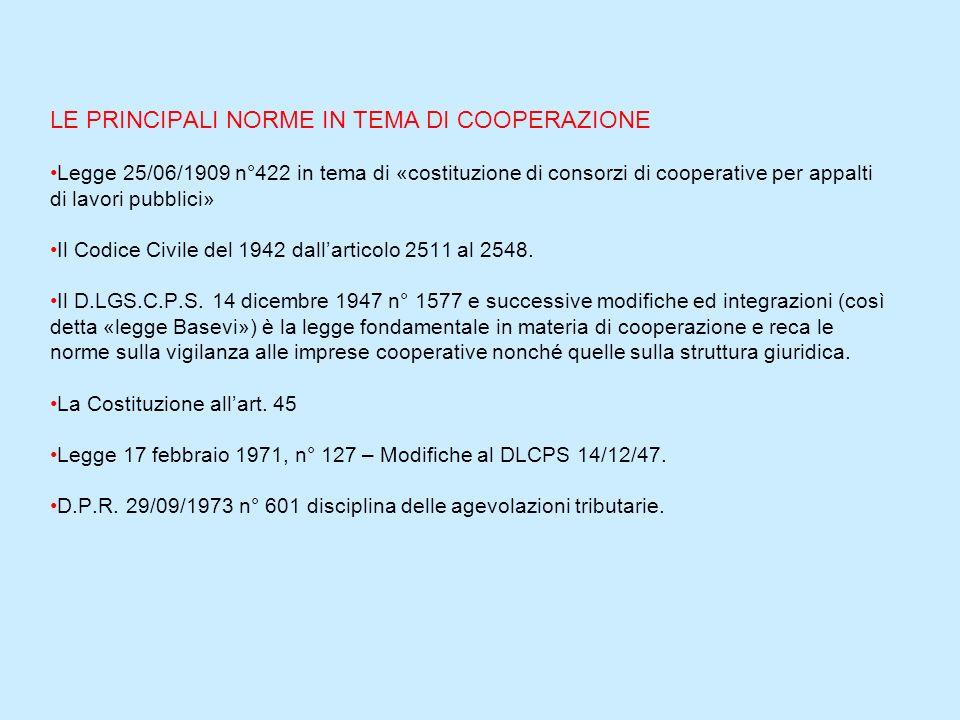 Attualmente sono previsti tre diversi regimi di controllo: 1. le cooperative più sviluppate (fatturato superiore a 80 miliardi di lire, riserve patrim