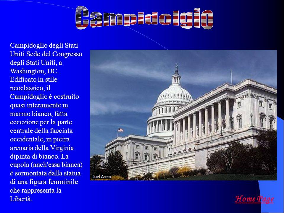 Campidoglio degli Stati Uniti Sede del Congresso degli Stati Uniti, a Washington, DC. Edificato in stile neoclassico, il Campidoglio è costruito quasi