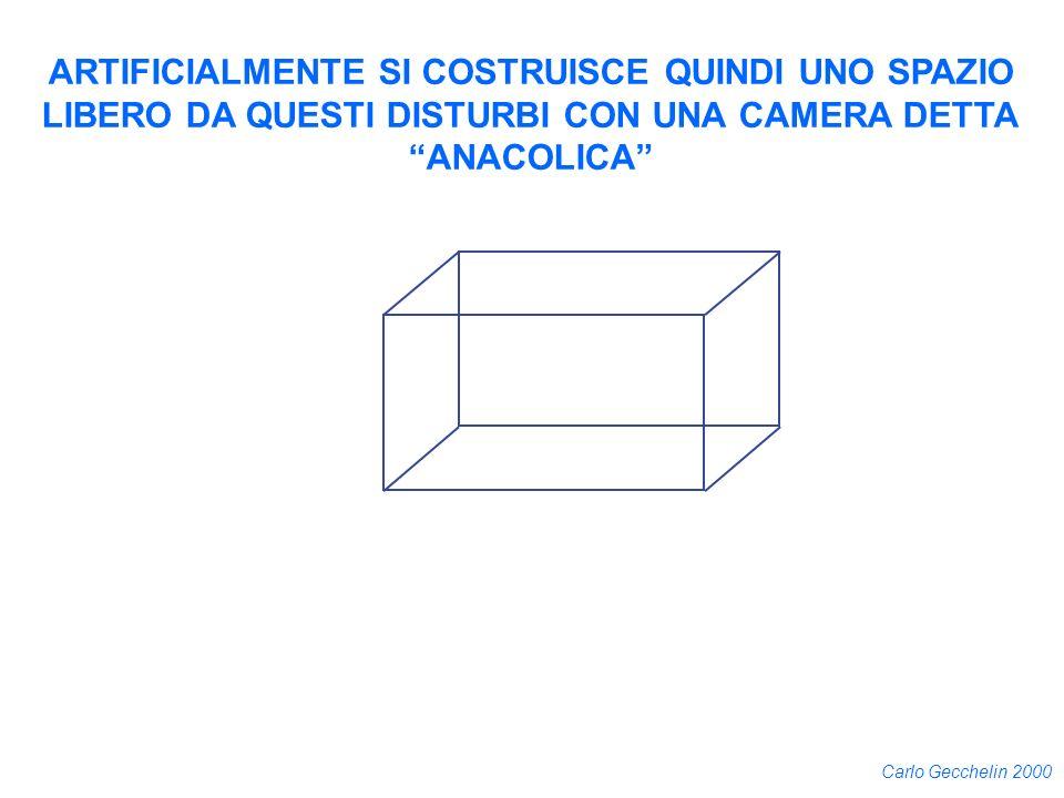 Carlo Gecchelin 2000 ARTIFICIALMENTE SI COSTRUISCE QUINDI UNO SPAZIO LIBERO DA QUESTI DISTURBI CON UNA CAMERA DETTA ANACOLICA