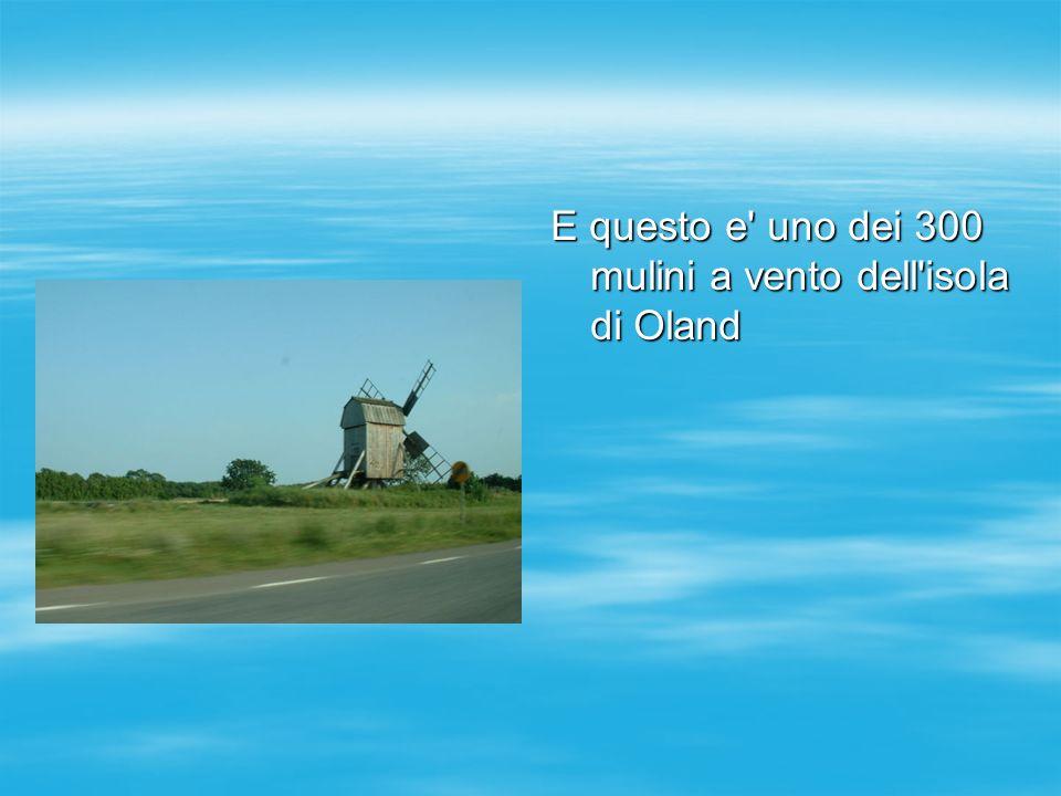 E questo e' uno dei 300 mulini a vento dell'isola di Oland