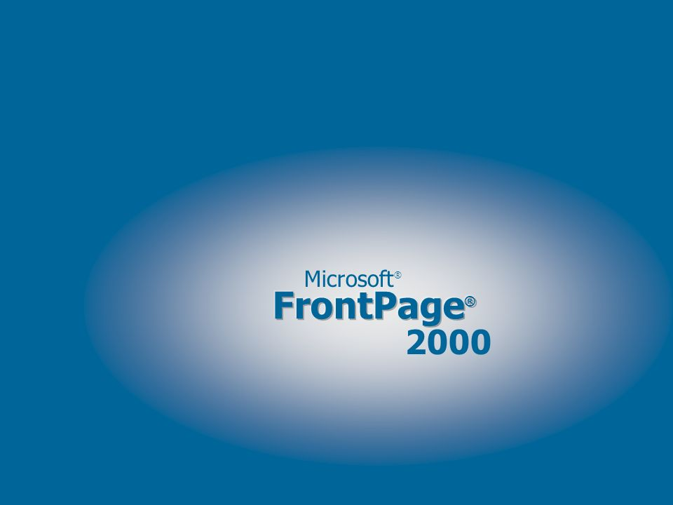 Microsoft ® 2000