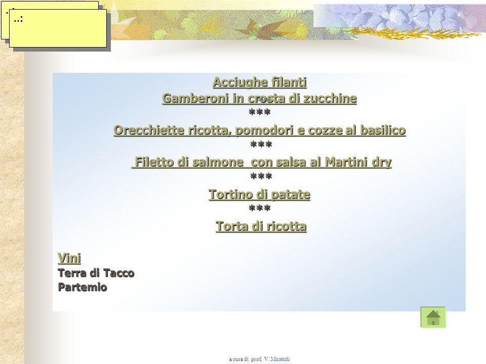 a cura di prof. V. Mustich Il menu E il programma del pasto. E lelenco delle preparazioni che possono essere servite. È la carta e\o il cartoncino, su