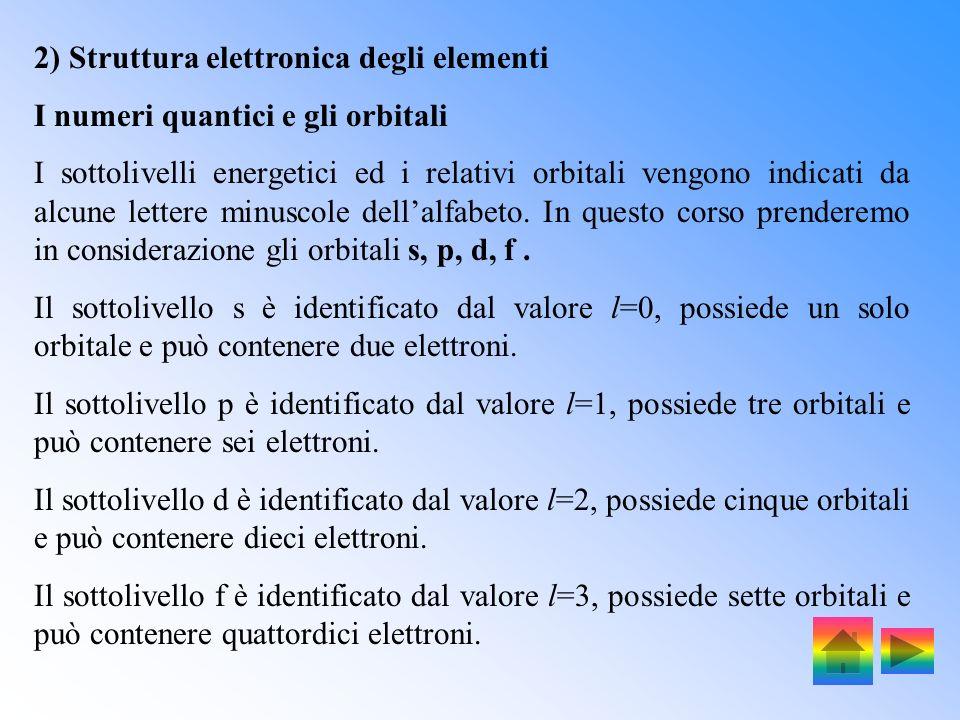 I numeri quantici sono: n, numero quantico principale, indica il livello energetico e le dimensioni degli orbitali. Insieme ad l determina lenergia de