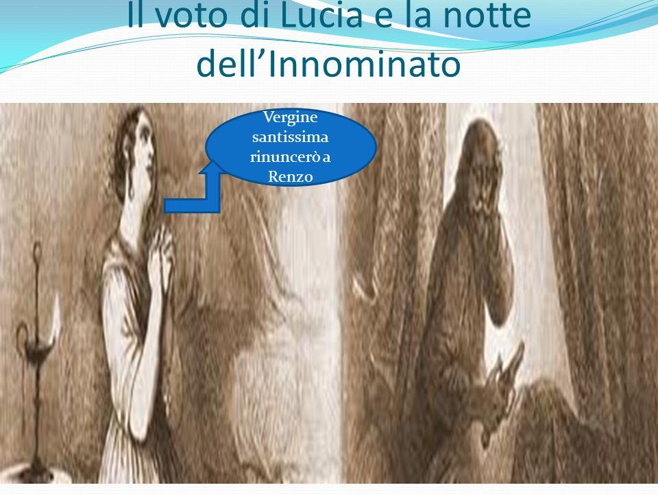 Il voto di Lucia e la notte dellInnominato Vergine santissima rinuncerò a Renzo