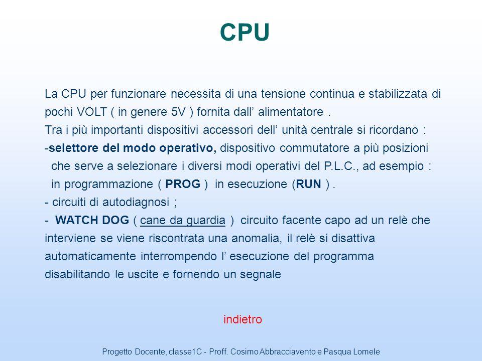 Progetto Docente, classe1C - Proff. Cosimo Abbracciavento e Pasqua Lomele Moduli di INPUT I moduli o schede di ingresso ( moduli di input ) sono desti