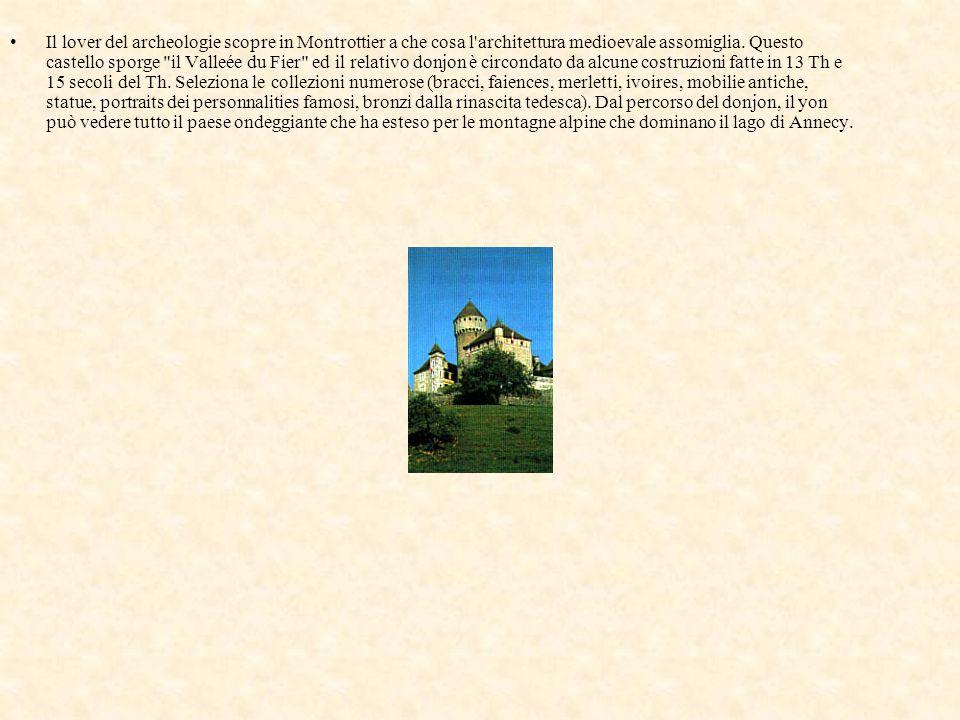 Il lover del archeologie scopre in Montrottier a che cosa l'architettura medioevale assomiglia. Questo castello sporge