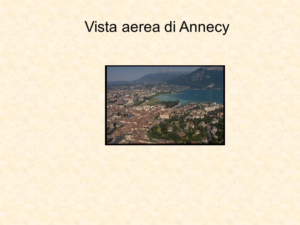 Vista aerea di Annecy