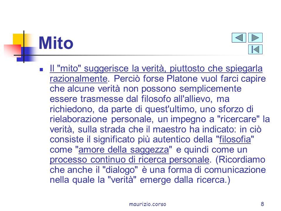 maurizio.corso9 Mito ricerca verità