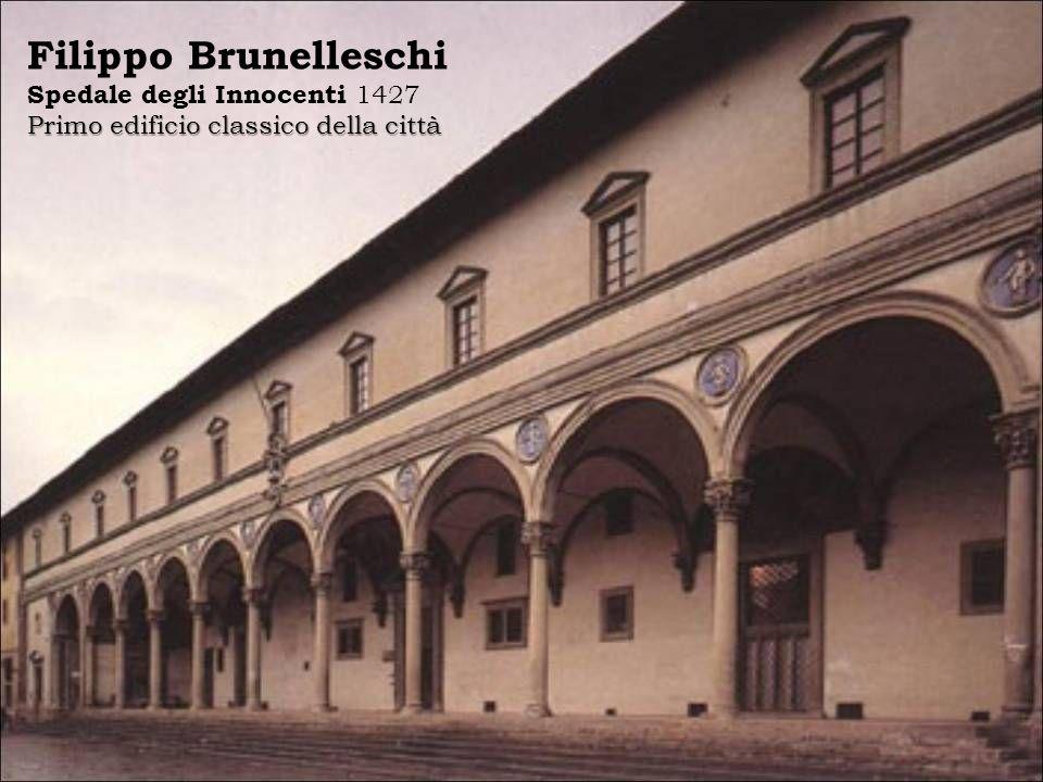 Filippo Brunelleschi Spedale degli Innocenti 1427 Primo edificio classico della città