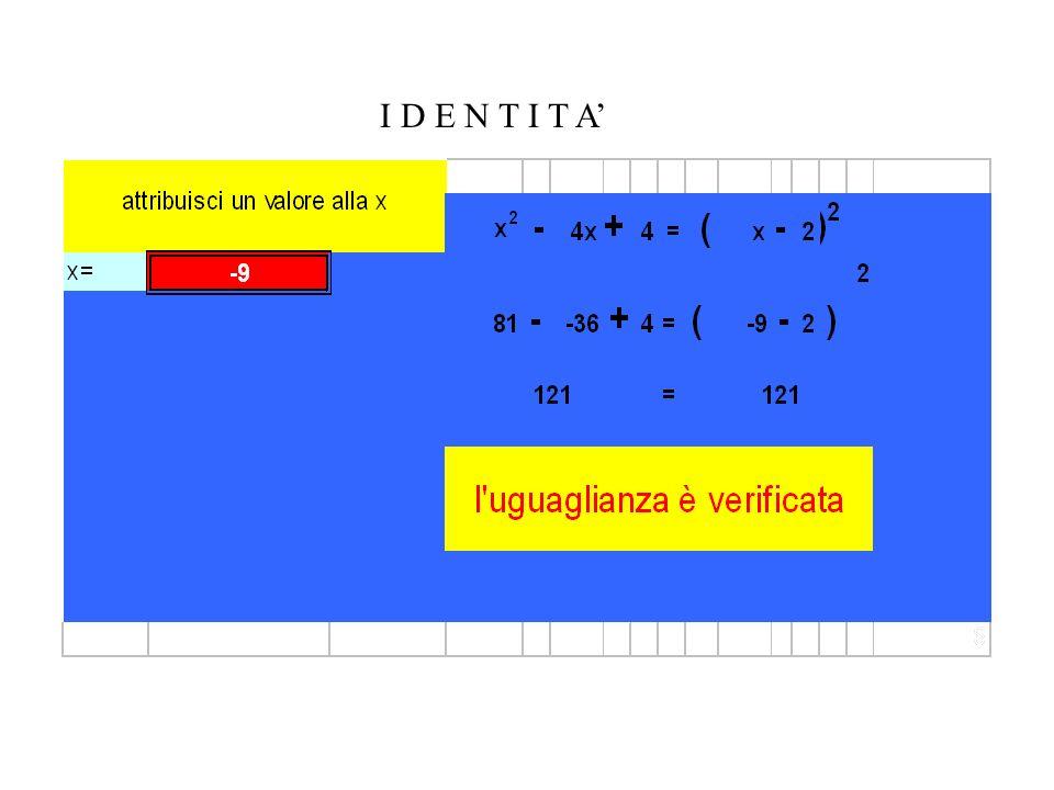 Le diapositive che seguono possono essere presentate agli allievi come attività di laboratorio in Excel.