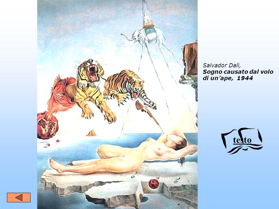 Salvador Dalì, Sogno causato dal volo di unape, 1944 testo