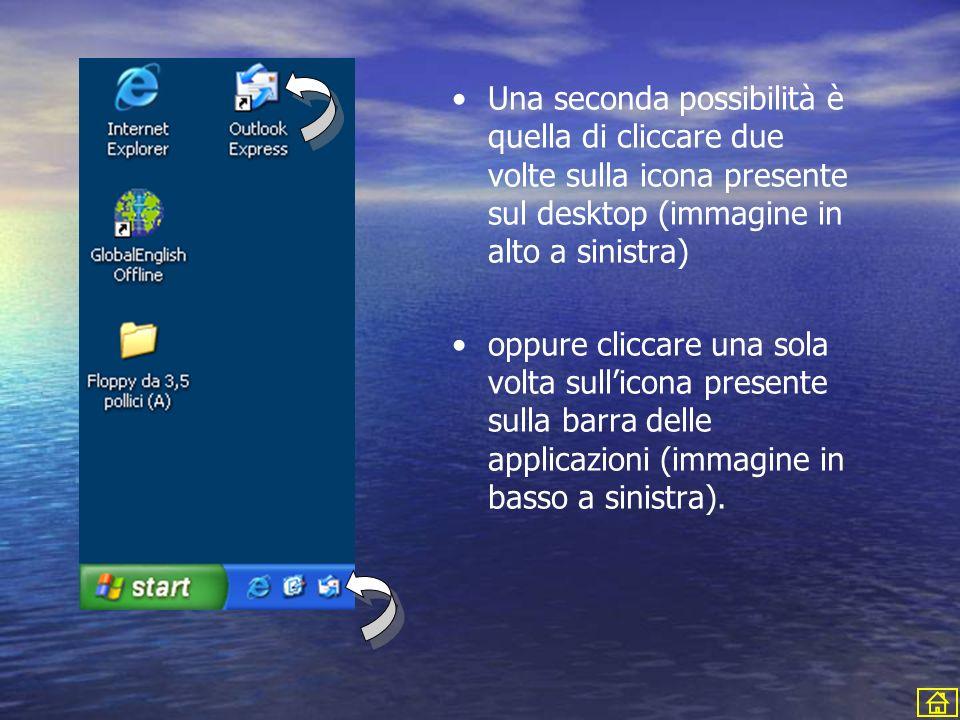 Una seconda possibilità è quella di cliccare due volte sulla icona presente sul desktop (immagine in alto a sinistra) oppure cliccare una sola volta s