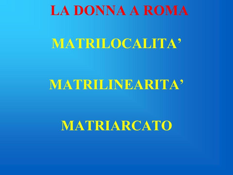 LA DONNA A ROMA Viaggio nelluniverso femminile dal periodo monarchico allavvento del cristianesimo