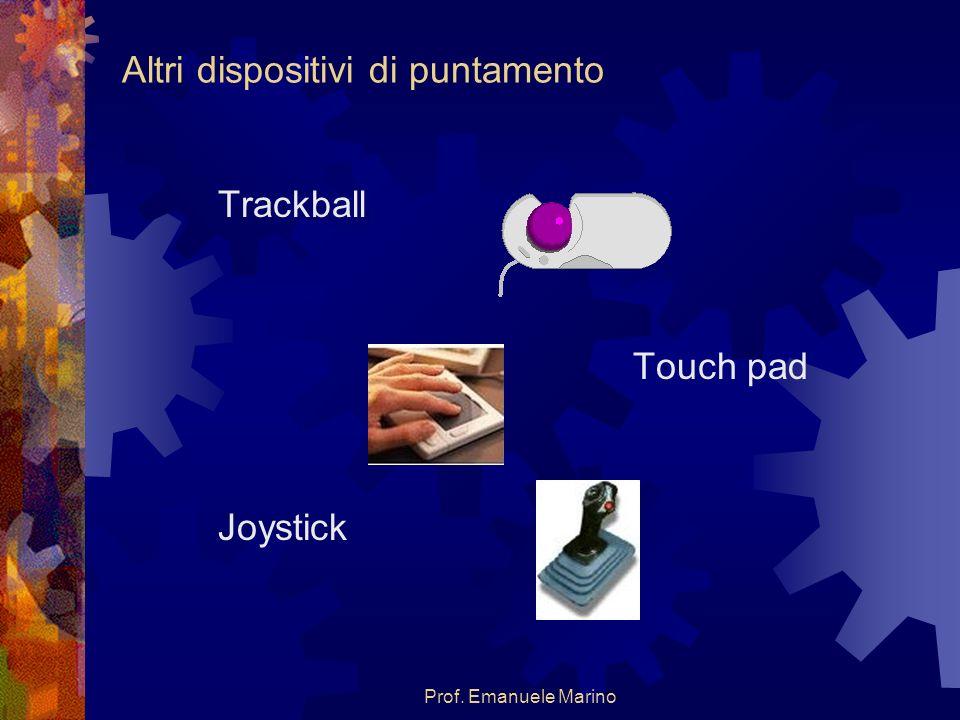 Prof. Emanuele Marino Altri dispositivi di puntamento Trackball Touch pad Joystick