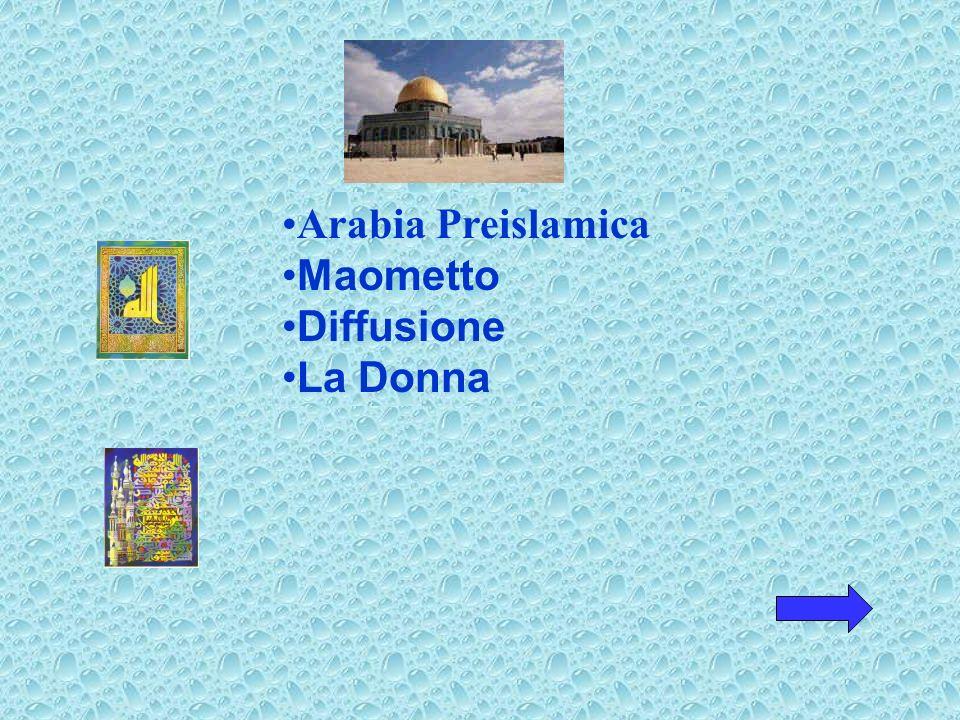 Arabia Preislamica Maometto Diffusione La Donna