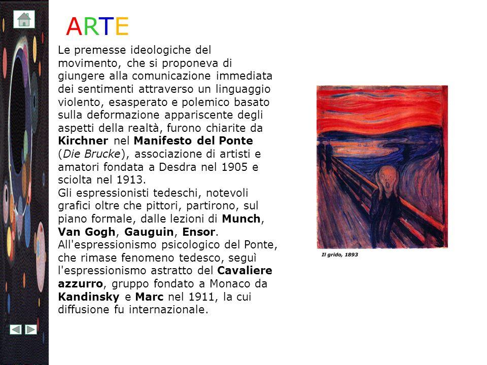 Sotto l impulso di Kandinsky i protagonisti del Cavaliere azzurro si volsero verso nuovi modi espressivi, verso la creazione di spazi immaginari, verso l astrazione lirica e fantastica della realtà.