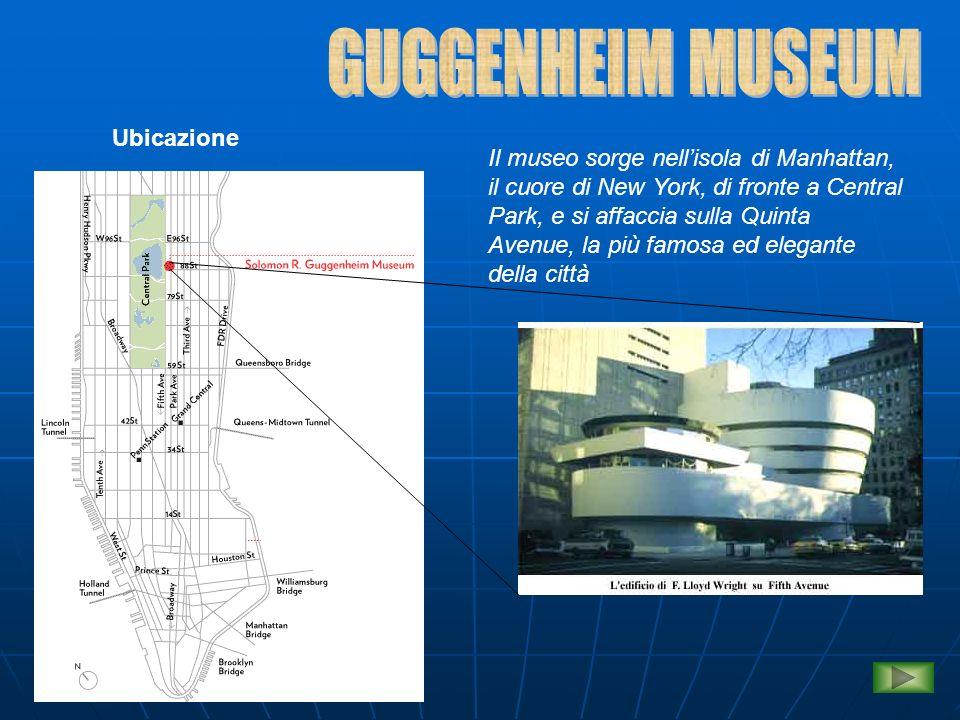 Struttura architettonica Riportiamo qui di seguito alcuni dei progetti di Wright del Guggenheim Museum Sezione sudSezione nord