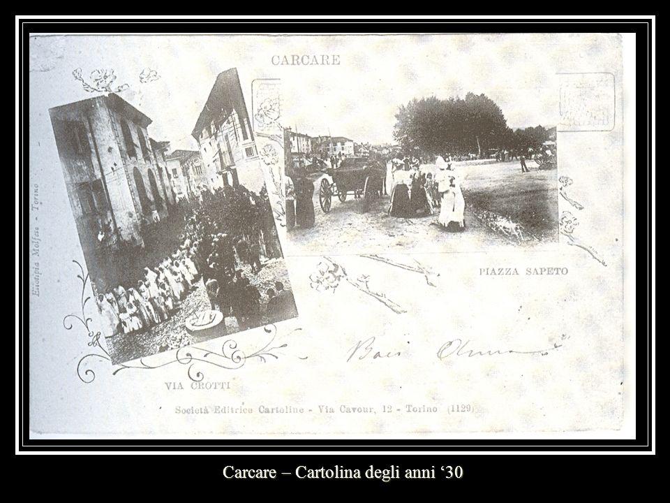 Carcare – Cartolina degli anni 30