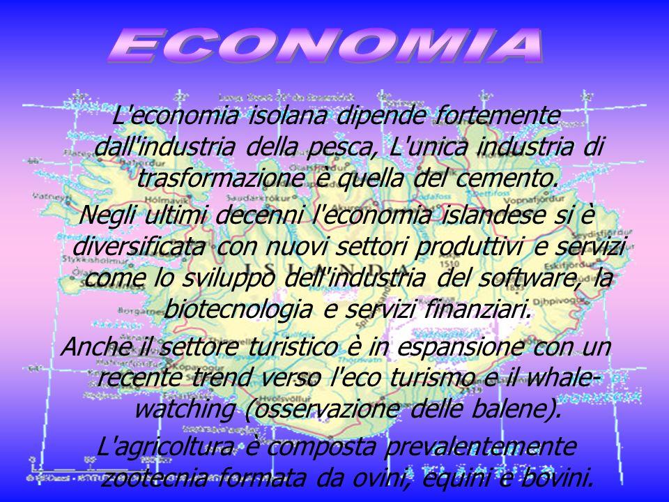 L'economia isolana dipende fortemente dall'industria della pesca, L'unica industria di trasformazione è quella del cemento. Negli ultimi decenni l'eco