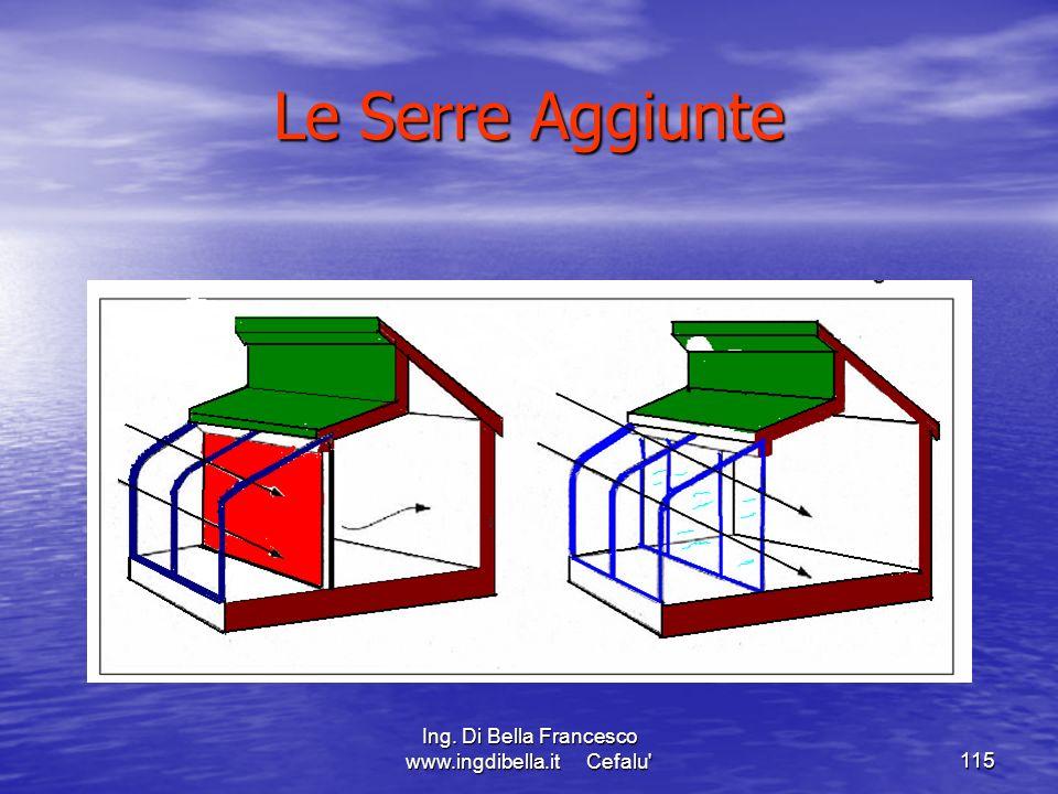 Ing. Di Bella Francesco www.ingdibella.it Cefalu'115 Le Serre Aggiunte