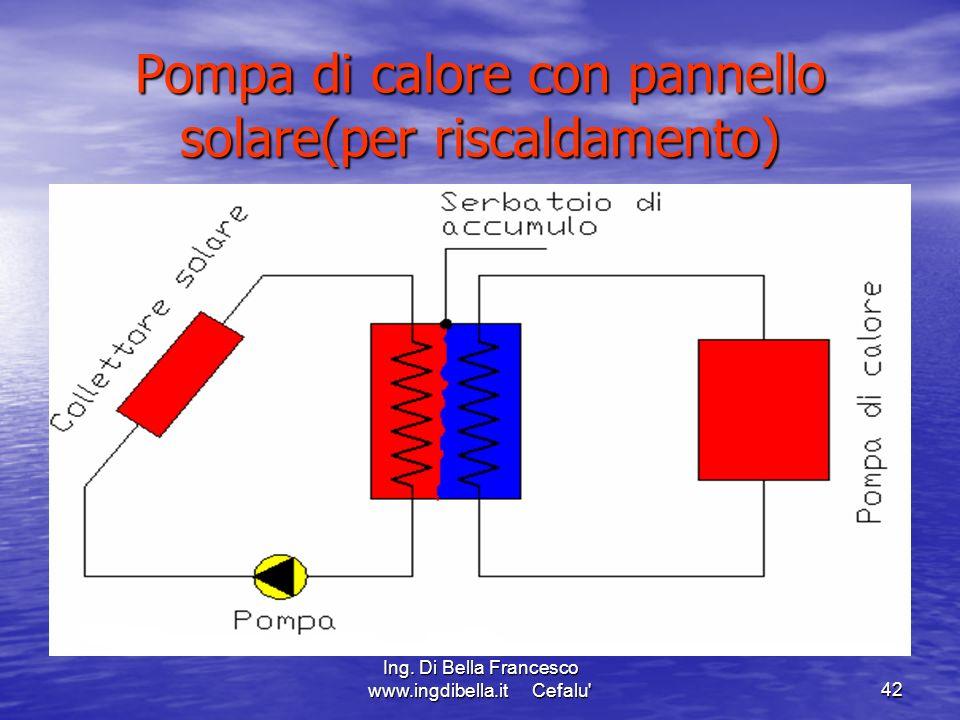 Ing. Di Bella Francesco www.ingdibella.it Cefalu'42 Pompa di calore con pannello solare(per riscaldamento)