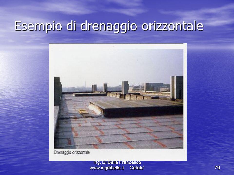 Ing. Di Bella Francesco www.ingdibella.it Cefalu'70 Esempio di drenaggio orizzontale