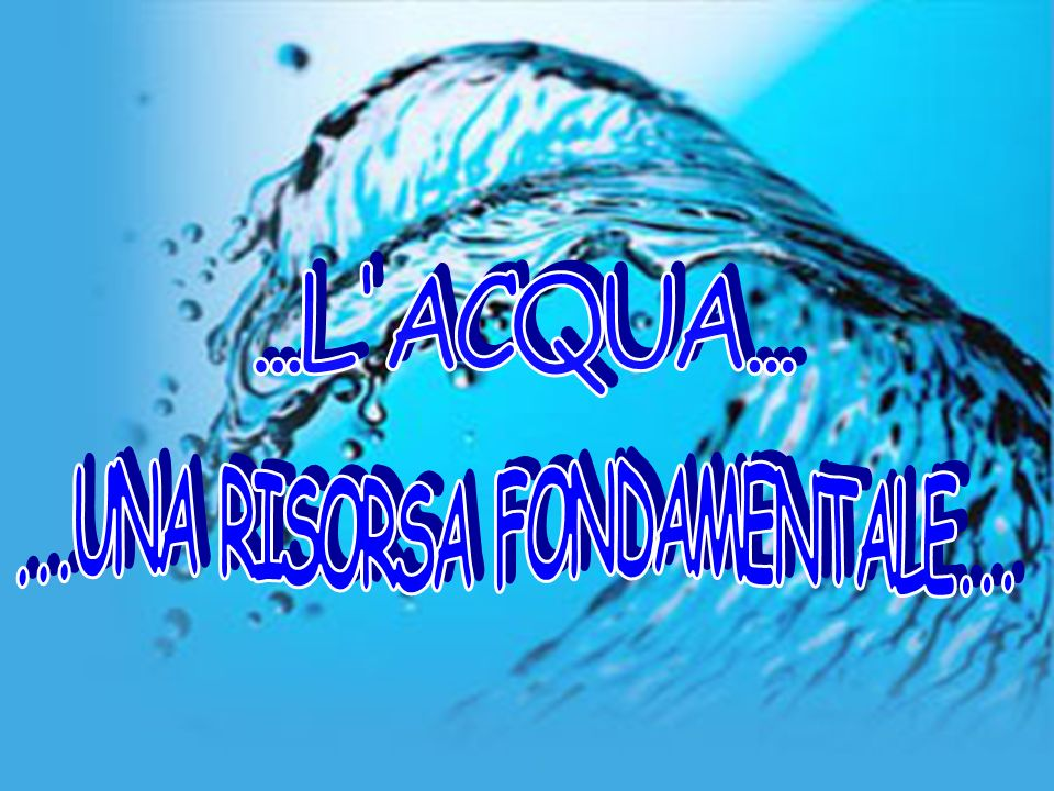 Numerose attività umane influiscono sulla qualità dellacqua, provocando unalterazione delle sue caratteristiche, questa modificazione è detta inquinamento idrico.
