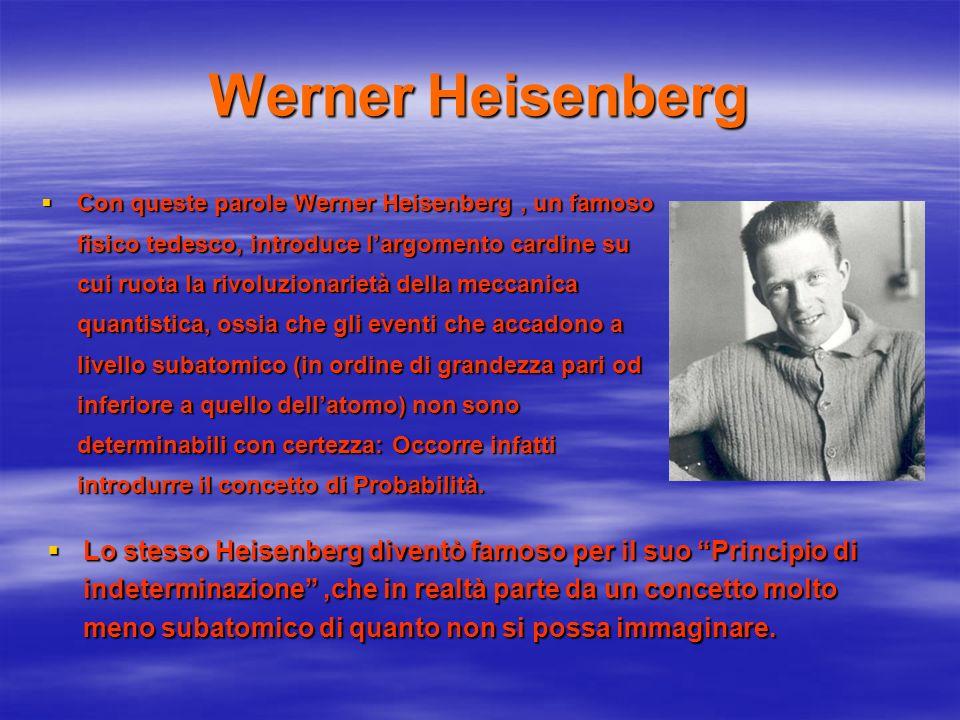 Werner Heisenberg Con queste parole Werner Heisenberg, un famoso fisico tedesco, introduce largomento cardine su cui ruota la rivoluzionarietà della m