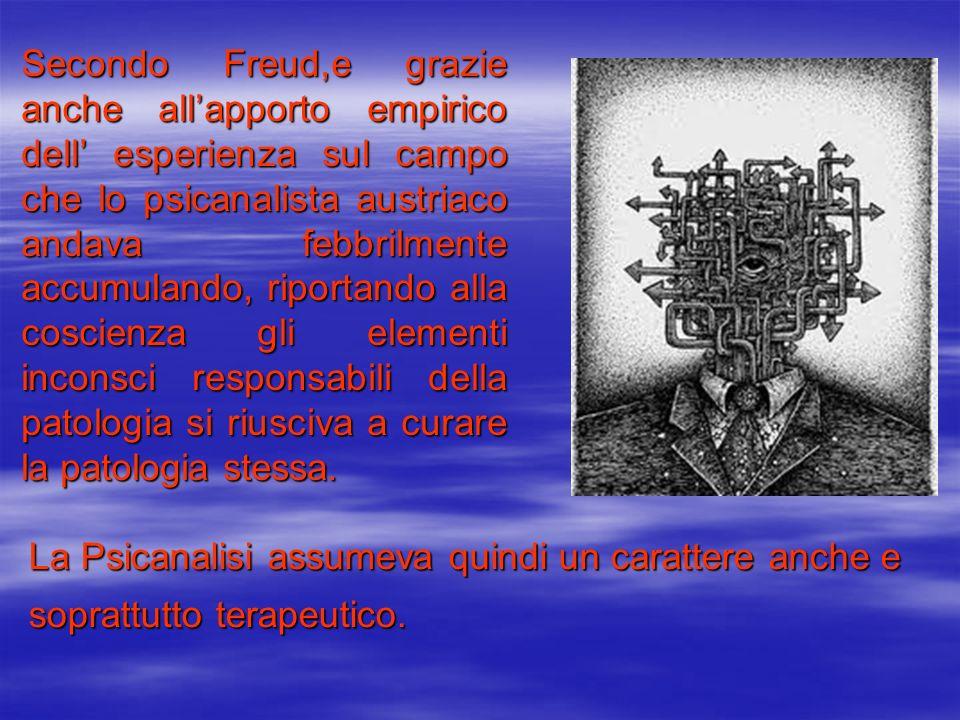 Secondo Freud,e grazie anche allapporto empirico dell esperienza sul campo che lo psicanalista austriaco andava febbrilmente accumulando, riportando a