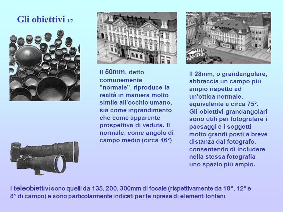 50 mm normale 28 mm grandangolare 200 mm Teleobiettivo Gli obiettivi 2/2 Zoom Si tratta di obiettivi la cui lunghezza focale è variabile fra due estremi, es.