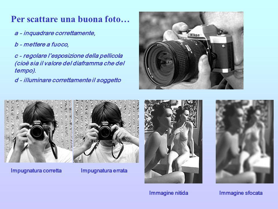 Per ottenere una fotografia esposta correttamente, è necessario effettuare due semplici ma fondamentali operazioni: regolare il tempo di scatto (cioè il periodo di tempo in cui l otturatore resta aperto) e il diaframma.