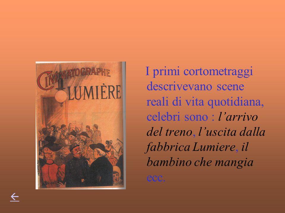 1985 i fratelli Lumiere iniziano le prime proiezioni In Italia occorre aspettare il 1905 per la prima produzioneIn Italia occorre aspettare il 1905 pe
