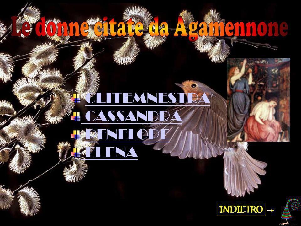 Cassandra è figlia di Priamo, ed è stata portata in Grecia da Agamennone come concubina.