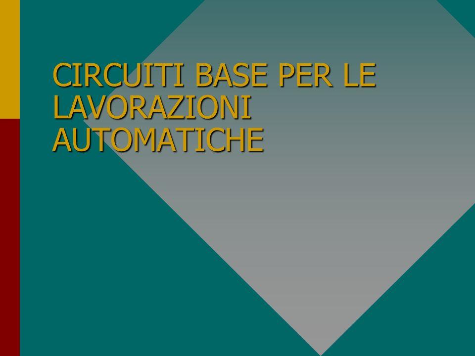 Introduzione ai principi di automazione in ambiente industriale Diagrammi di lavoro, circuiti di controllo con e senza sosta, circuiti determinazione fasi, circuiti contatori di cicli diversi, circuiti divisori di cicli alternati, circuiti uscite e segnalazioni ottiche.