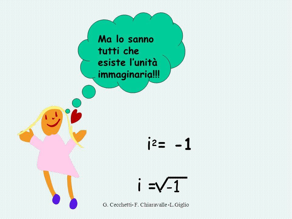 G.Cecchetti- F. Chiaravalle -L.Giglio Ma lo sanno tutti che esiste lunità immaginaria!!.
