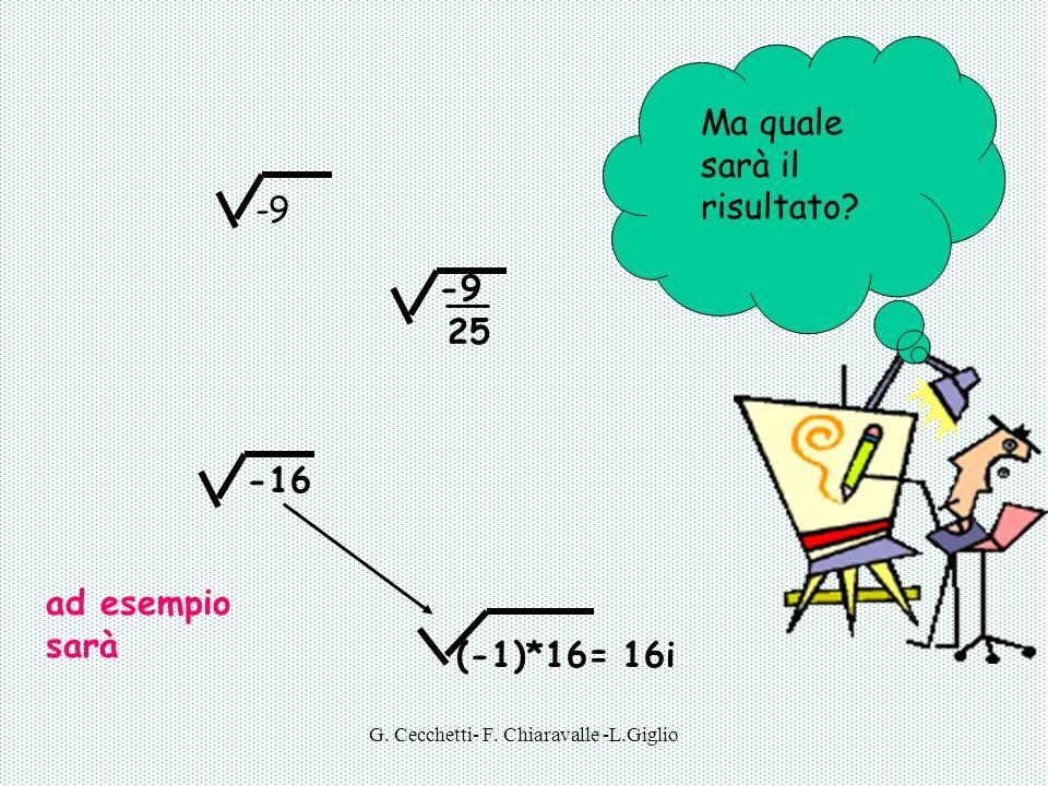G.Cecchetti- F. Chiaravalle -L.Giglio -9 -16 -9 25 Ma quale sarà il risultato.