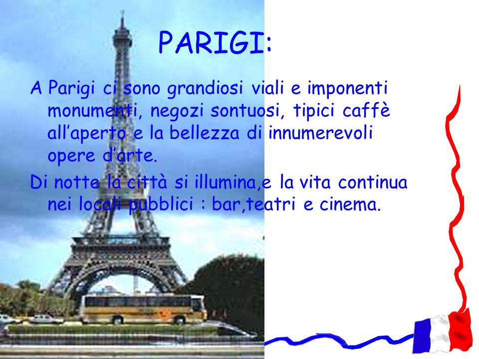 PARIGI: A Parigi ci sono grandiosi viali e imponenti monumenti, negozi sontuosi, tipici caffè allaperto e la bellezza di innumerevoli opere darte. Di