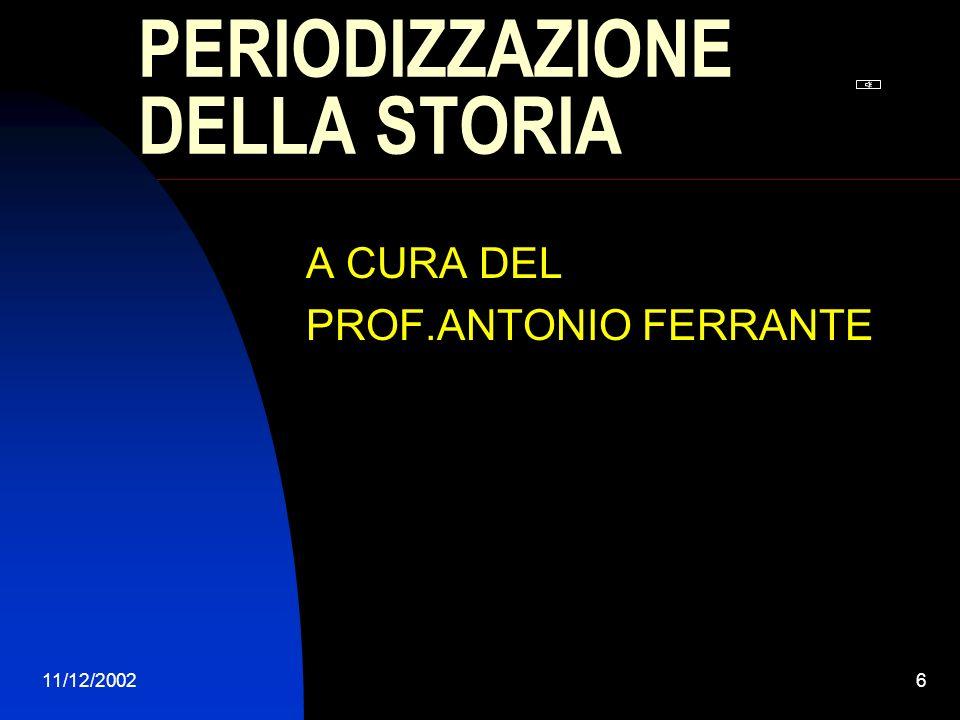 11/12/2002 PROGETTO DOCENTE Diapositiva sommario IL MEDIOEVO LETA MODERNA LETA CONTEMPORANEA CONCLUSIONE STORIA E LETTERATURA