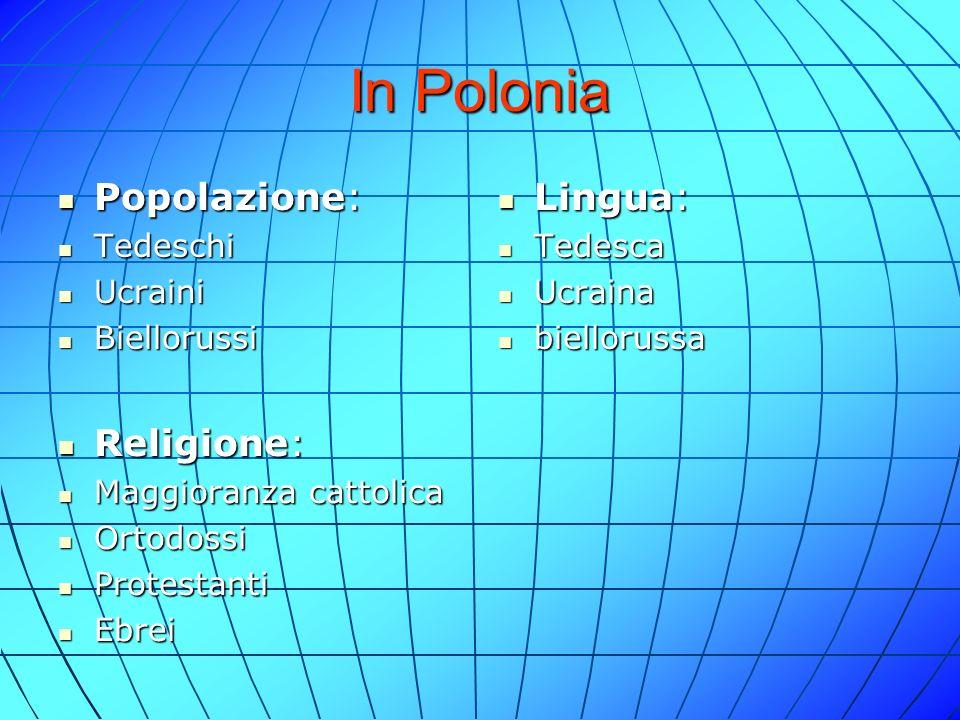 Città Varsavia : è la capitale della Polonia e principale centro storico Varsavia : è la capitale della Polonia e principale centro storico Crocavia : è una delle più antiche ed estese città Crocavia : è una delle più antiche ed estese città Breslavia : la quarta città più grande della Polonia Breslavia : la quarta città più grande della Polonia Danzica : è una famosa città sul Mar Baltico Danzica : è una famosa città sul Mar Baltico
