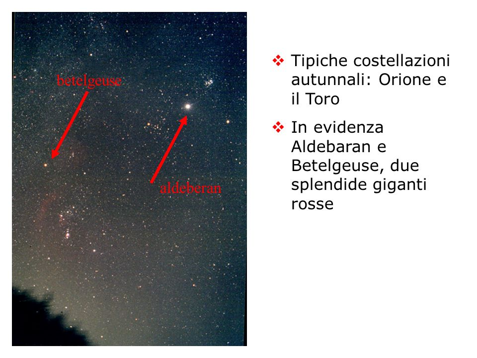 La costellazione di Orione Sicuramente la più bella costellazione del cielo autunnale boreale In evidenza la cintura e la spada