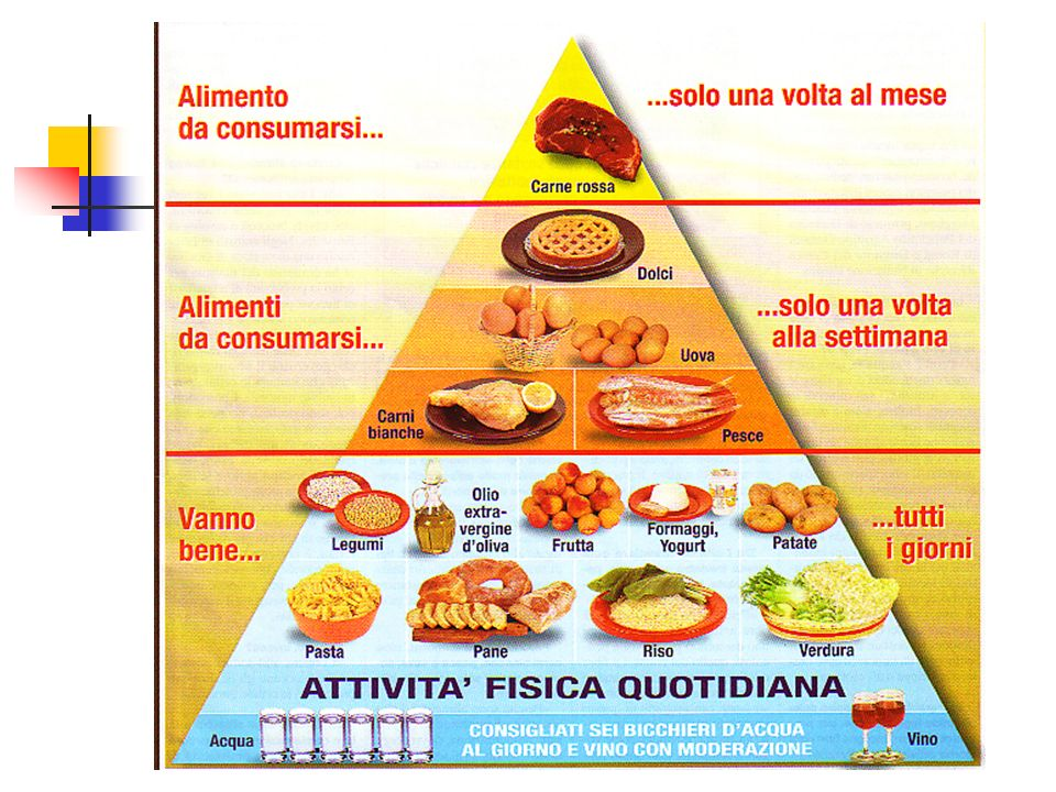CIBI DA MANGIARE OGNI GIORNO Sono quelli che si trovano alla base della Piramide Alimentare.