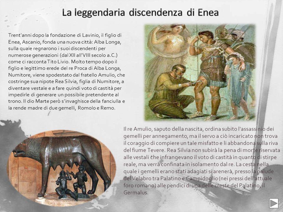 La tradizione vuole che la cesta contenente i due gemelli si fosse fermata sotto un fico, il fico ruminale o romulare dal nome dello stesso Romolo, nei pressi di una grotta detta Lupercale.