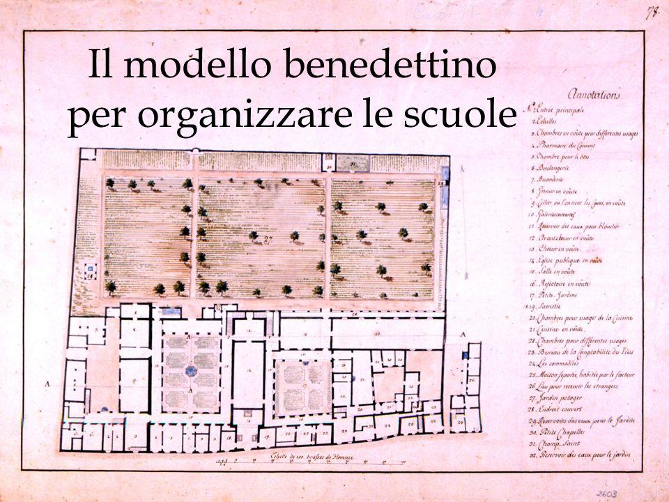 Il modello benedettino per organizzare le scuole