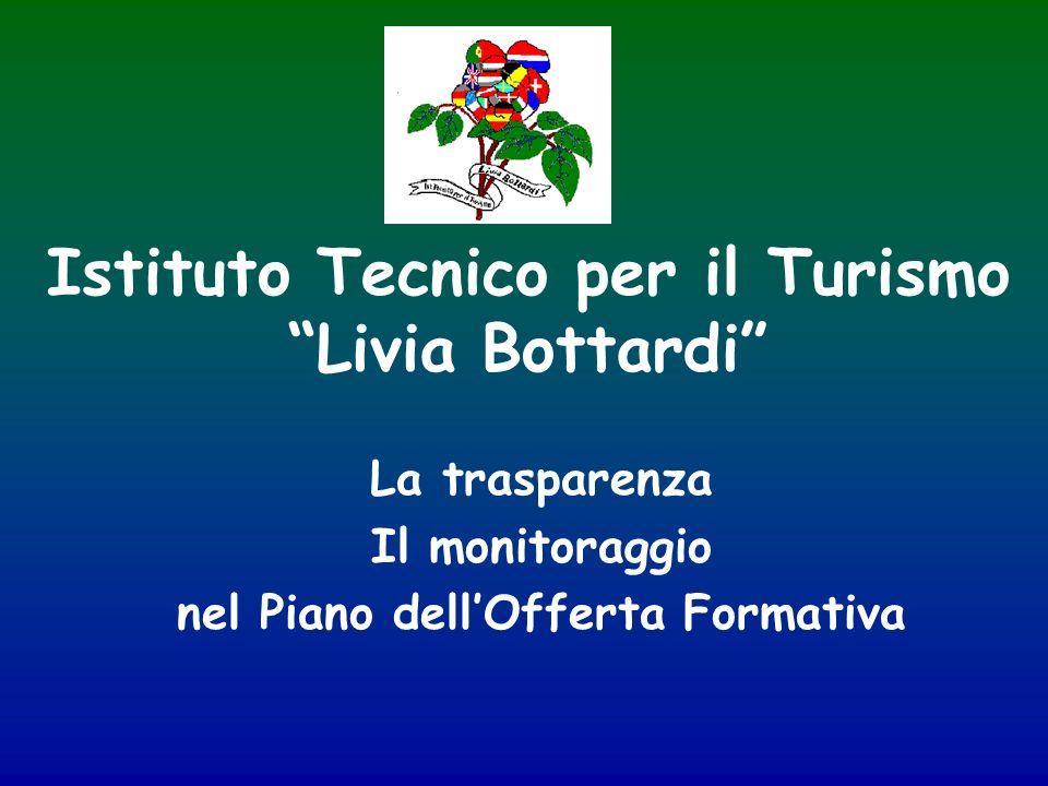Istituto Tecnico per il Turismo Livia Bottardi La trasparenza Il monitoraggio nel Piano dellOfferta Formativa