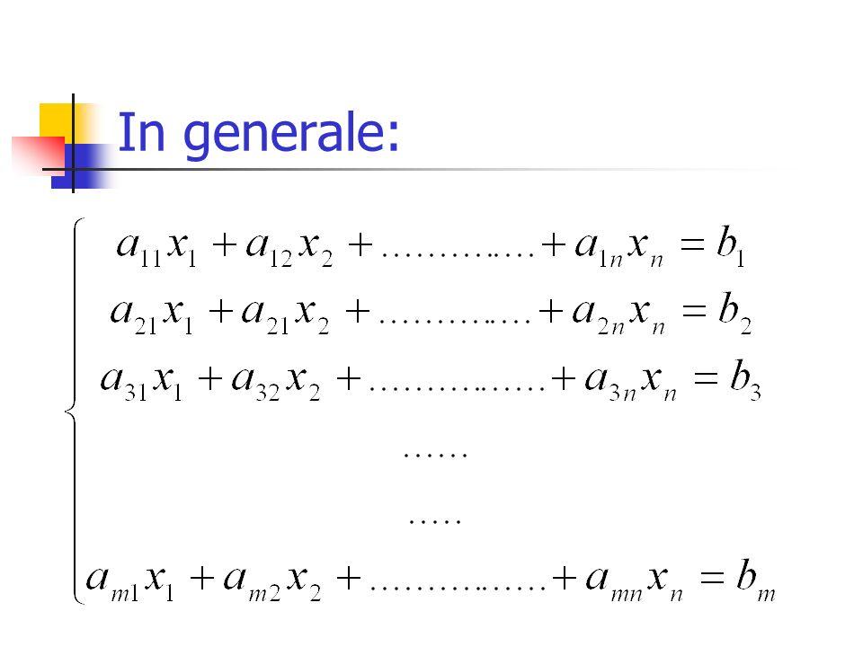 Risolvere un sistema significa: Determinare una n-pla di valori che verifichi ogni equazione