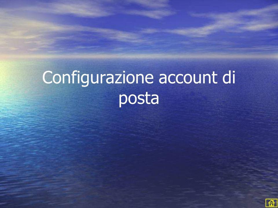Configurazione account di posta
