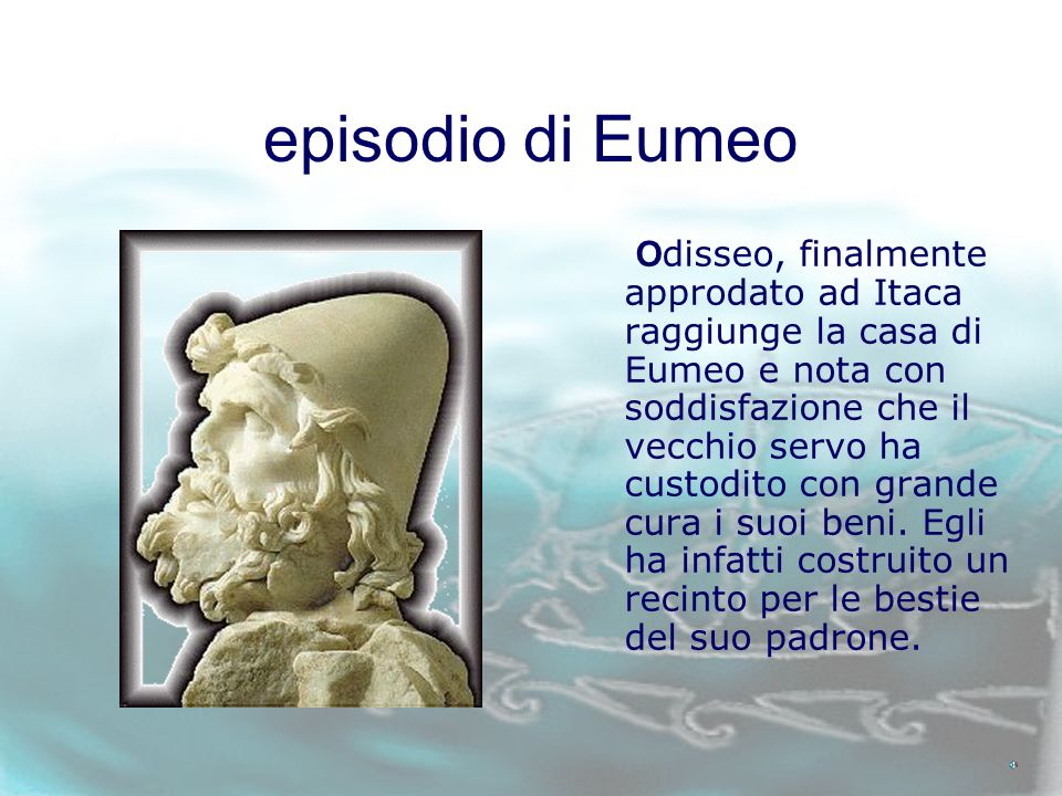 EUMEO Odissea libro XIV, versi 23-110
