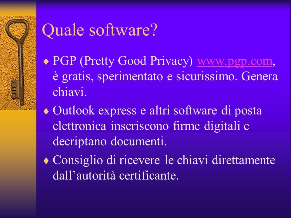 La firma digitale garantisce Riservatezza: il documento può essere illeggibile tranne che al destinatario Integrità: il documento non può essere alter